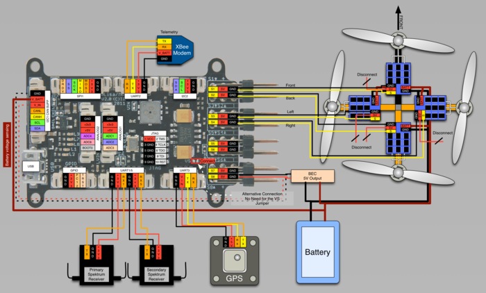 700px LisaM_V2_0_wiring_quadrocopter_spektrum_bec_pwmesc lisa m v2 0 paparazziuav spektrum receiver wiring diagram at reclaimingppi.co