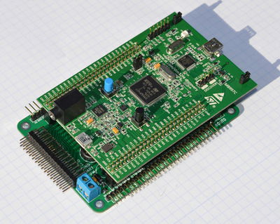 Stm32f4discovery with daughterboard.jpg