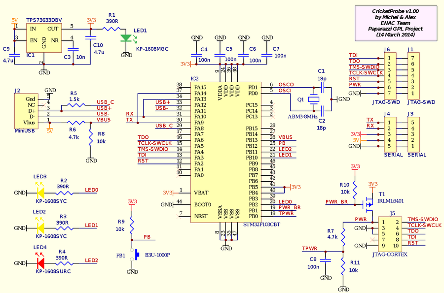 CricketProbe v1.00 Schematic