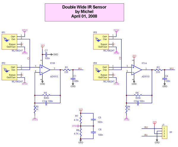 Wide Horizontal IR Sensor Schematic